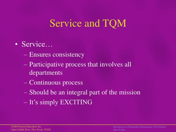Service and TQM