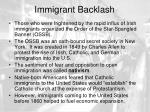 immigrant backlash