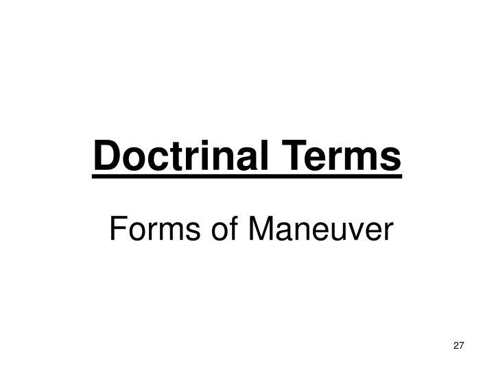 Doctrinal Terms