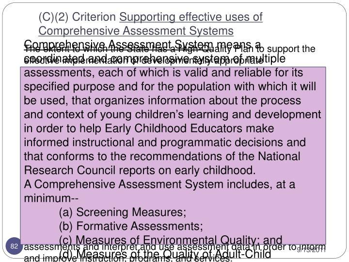 (C)(2) Criterion