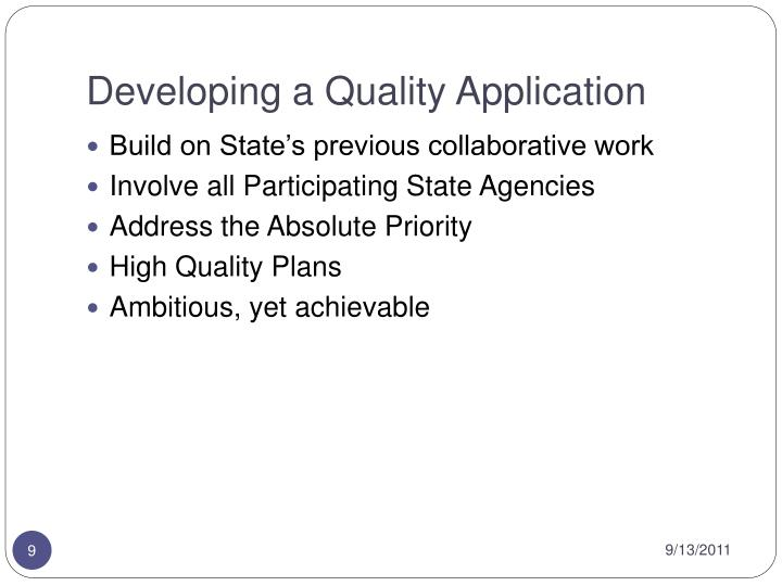 Developing a Quality Application