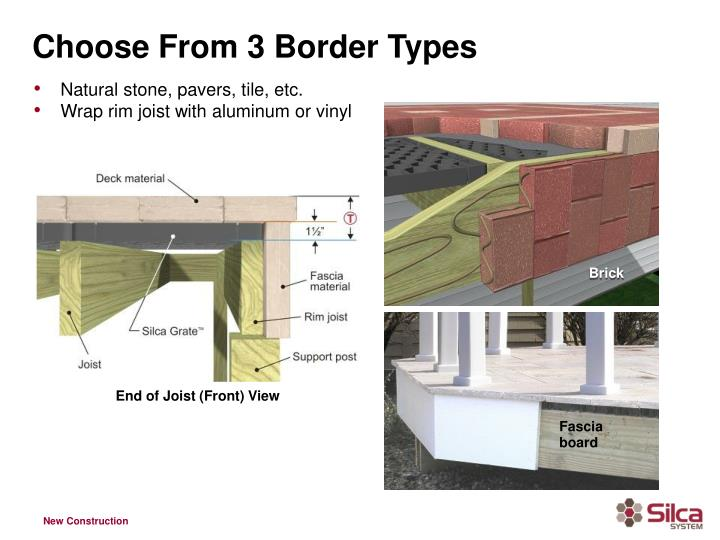 Choose From 3 Border Types