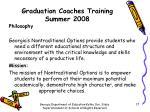 graduation coaches training summer 200815