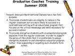 graduation coaches training summer 200816