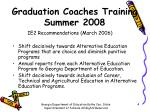 graduation coaches training summer 20082