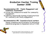 graduation coaches training summer 20088
