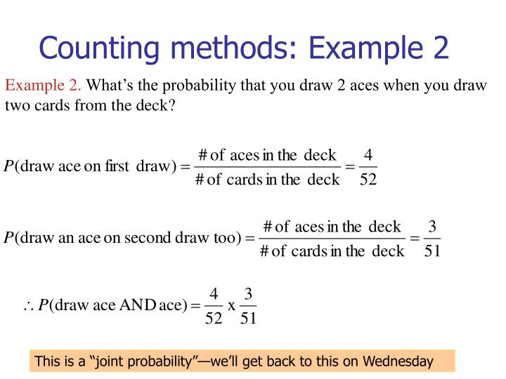 Counting methods: Example 2