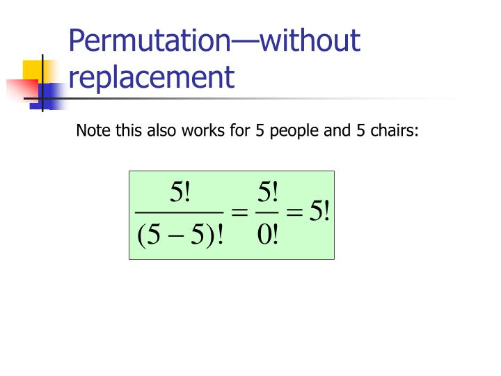 Permutation—without replacement