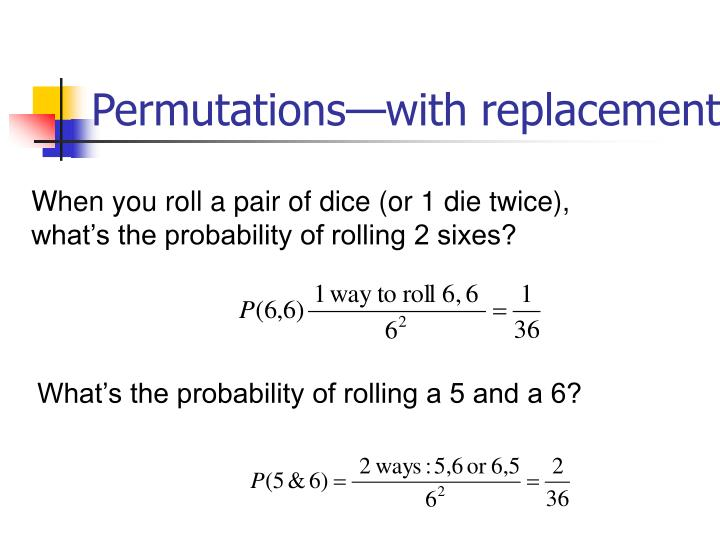 Permutations—with replacement