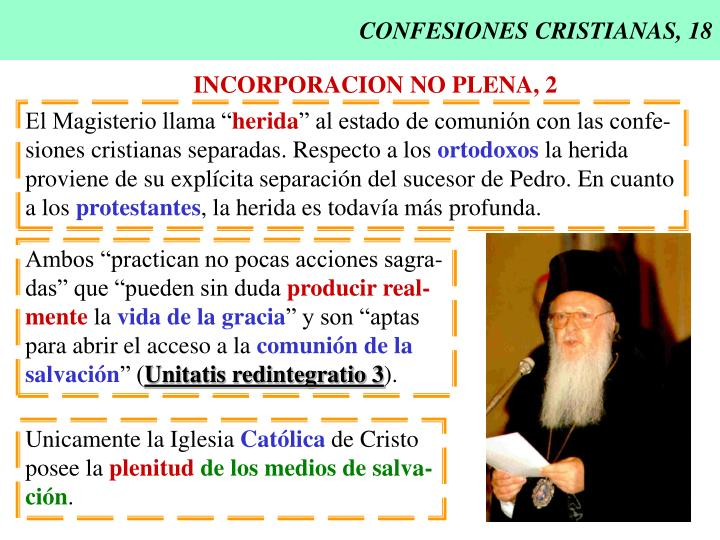 CONFESIONES CRISTIANAS, 18