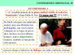 confesiones cristianas 20