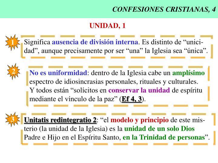 CONFESIONES CRISTIANAS, 4