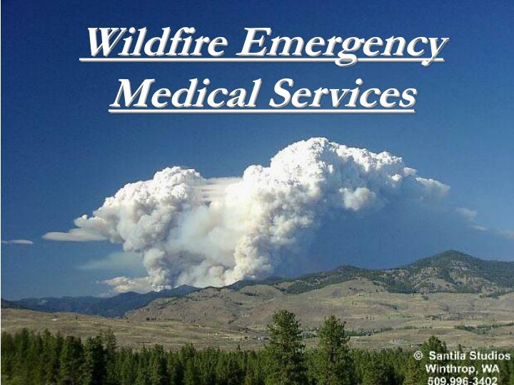 Wildfire emergency medical services