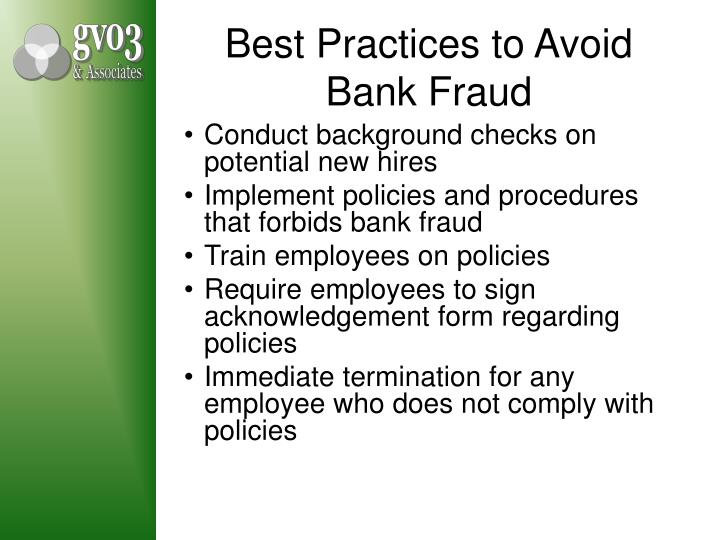 Best Practices to Avoid Bank Fraud