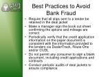 best practices to avoid bank fraud1