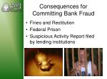 consequences for committing bank fraud