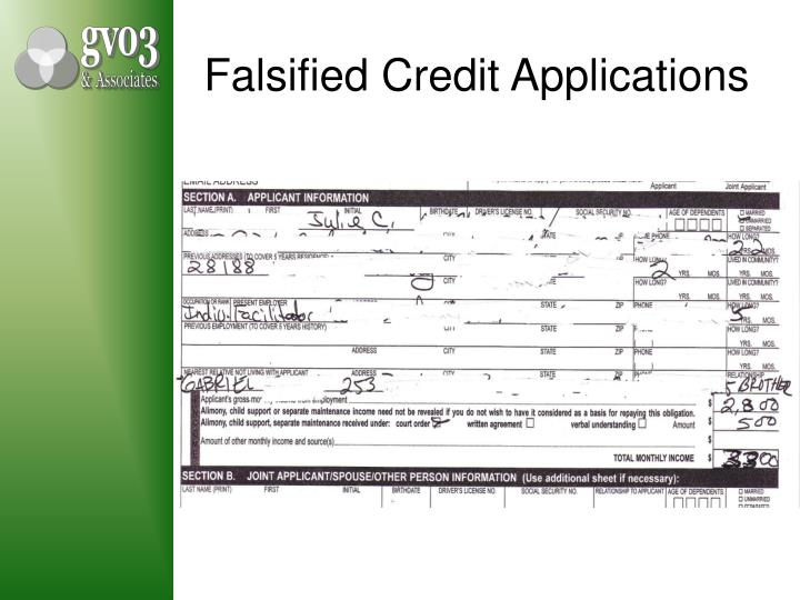 Falsified Credit Applications