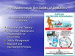 a programme on the safety of seafarers1