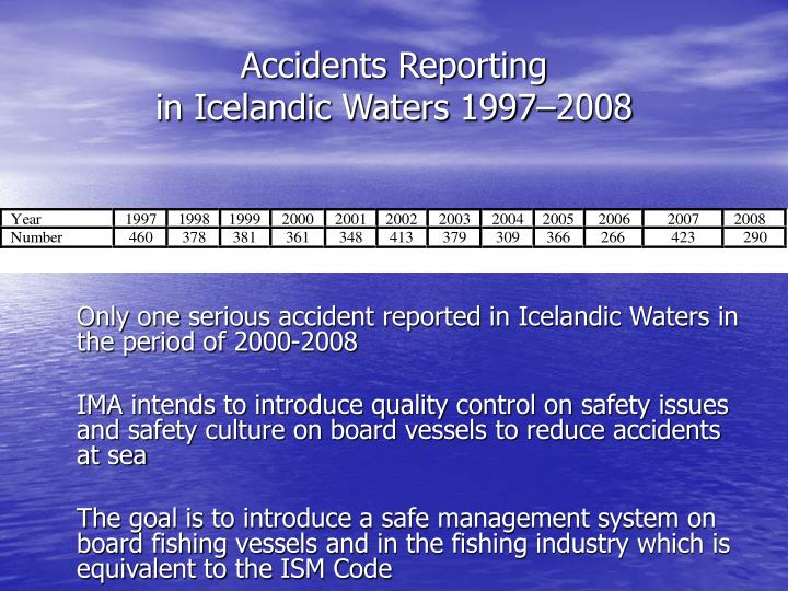 Accidents Reporting
