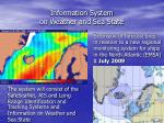information system on weather and sea state