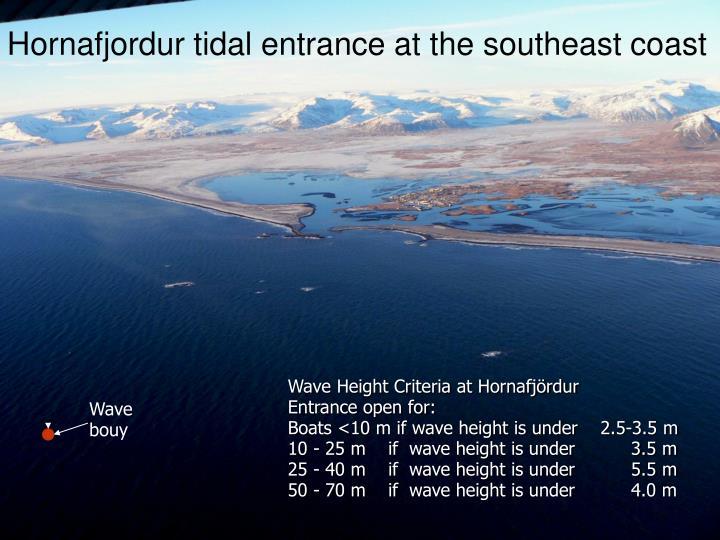 Hornafjordur tidal entrance at the southeast coast