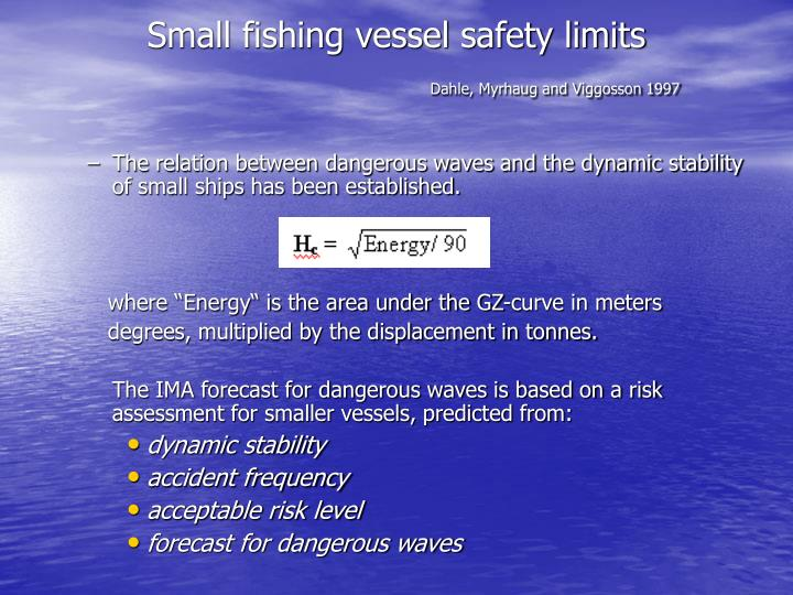 Small fishing vessel safety limits