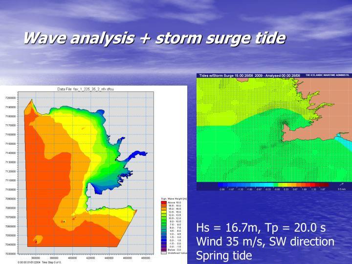 Wave analysis + storm surge tide