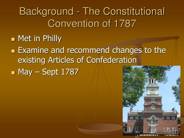 Background - The Constitutional Convention of 1787