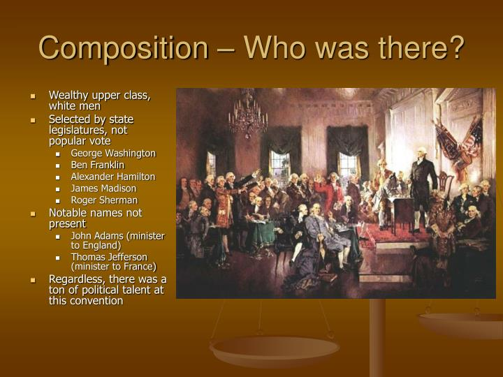Composition – Who was there?
