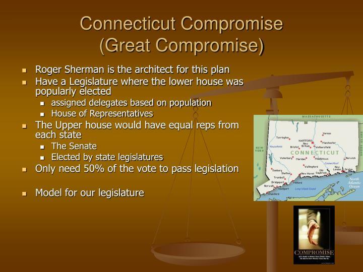 Connecticut Compromise               (Great Compromise)