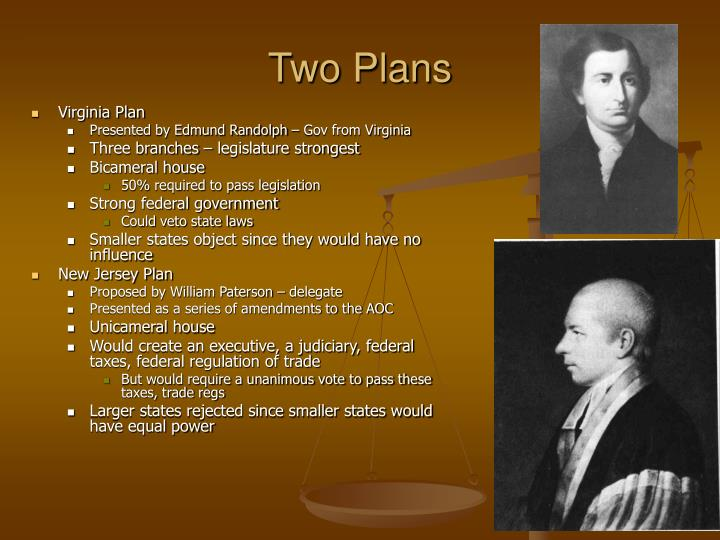 Two Plans