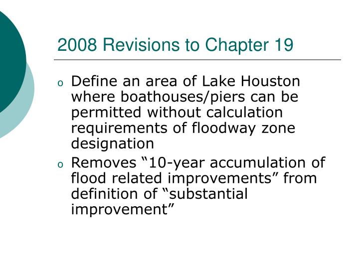 2008 Revisions to Chapter 19