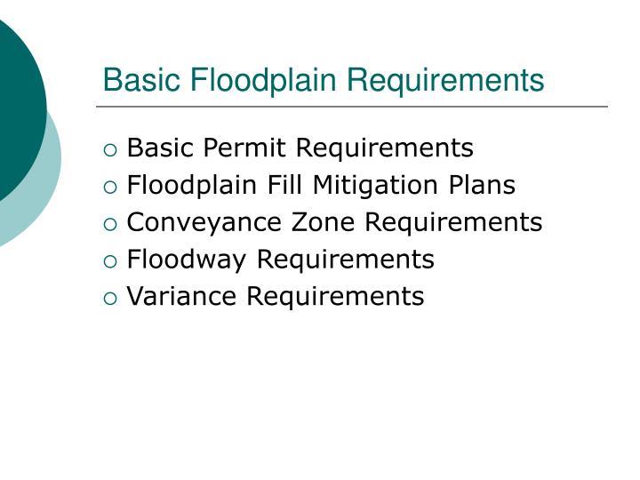 Basic Floodplain Requirements