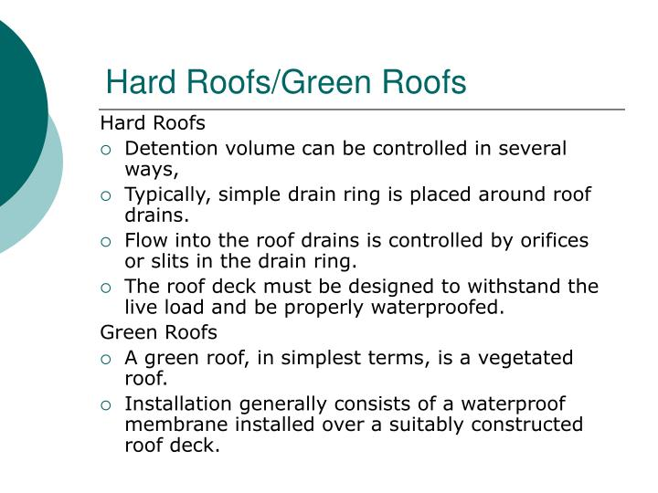 Hard Roofs/Green Roofs