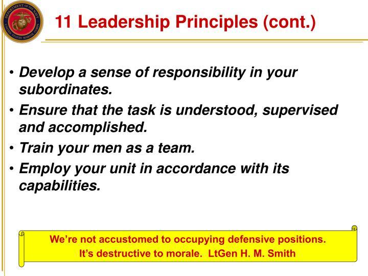 11 Leadership Principles (cont.)