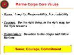 marine corps core values