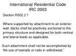 international residential code irc 2003