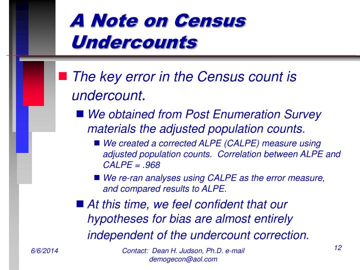 A Note on Census Undercounts