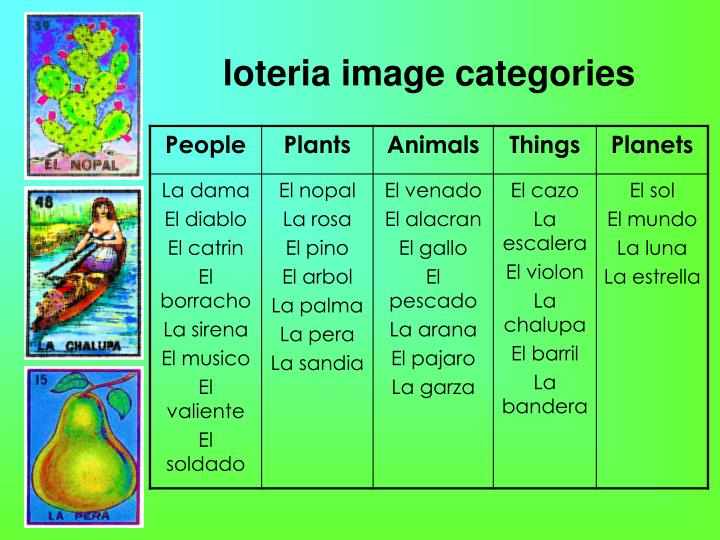 loteria image categories
