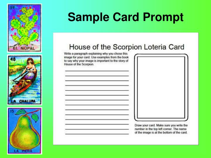 Sample Card Prompt