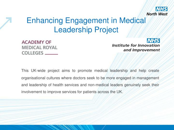 Enhancing Engagement in Medical Leadership Project