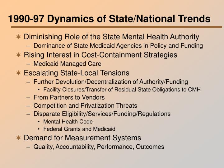 1990-97 Dynamics of State/National Trends