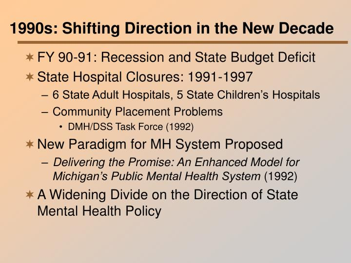 1990s: Shifting Direction in the New Decade