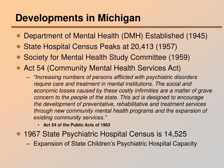 Developments in Michigan