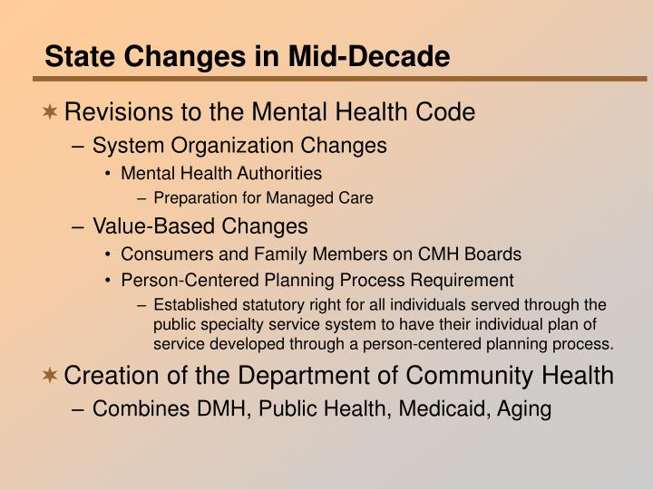 State Changes in Mid-Decade