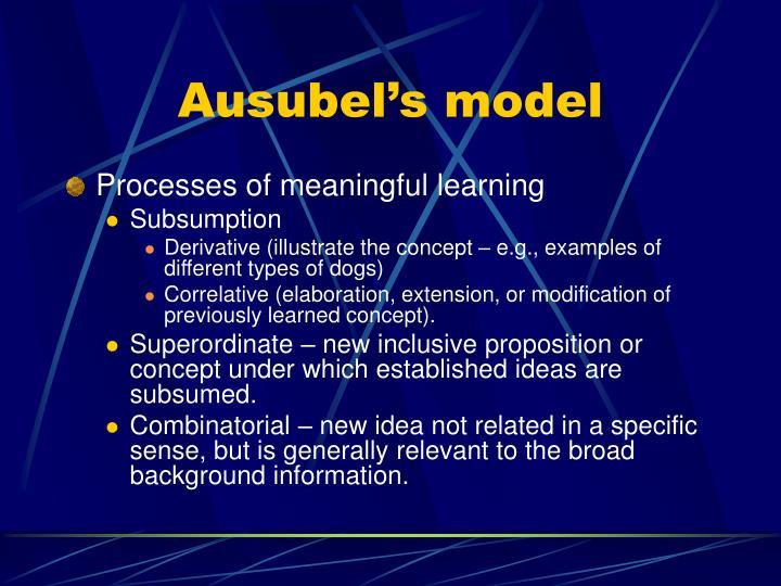 Ausubel's model