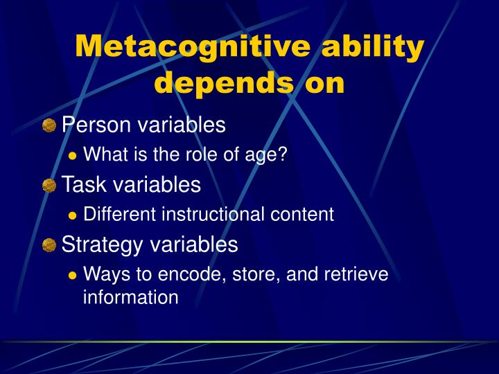 Metacognitive ability