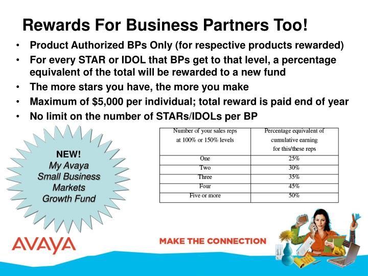 Rewards For Business Partners Too!
