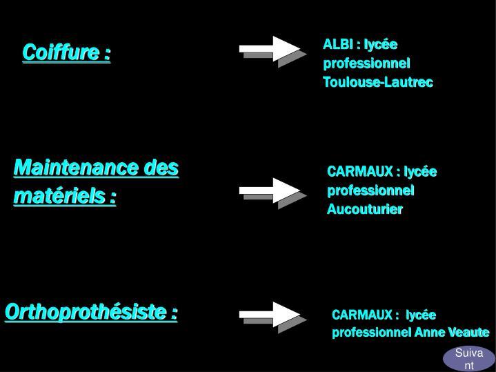 ALBI : lycée professionnel Toulouse-Lautrec