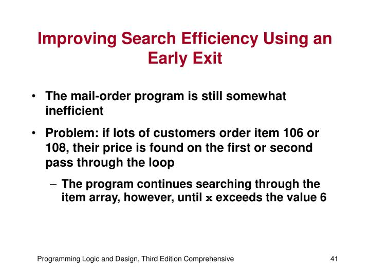 Improving Search Efficiency Using an Early Exit